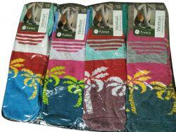 Шкарпетки жіночі (12 пар) Пальми р.36-40 асорті ТМКлевер