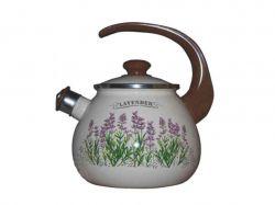 Чайник емальований зі свистком 2,5л/2 Лаванда ТМIDILIA