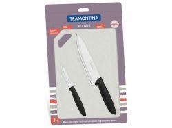 Наборы ножей TRAMONTINA PLENUS black н-р 3пр (нож 76,178мм,плас.дост)инд.бл