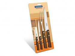 Наборы ножей TRAMONTINA TRADICIONAL 4 пр (3ножа,вилка д/мяса) блист