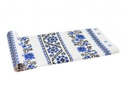 Рушник вафельний великий Орнамент (синій) арт.осн35 ТМПЛАТКИ-ОПТ