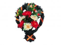 Кошик з квітами політелен №564/984 (50х40см) ТМХАРЬКОВ