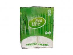 Рушники паперові 2-шарові, 2шт, білий ТМEco Line