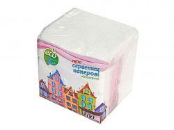 Серветки паперові 1-шарові, 100шт, білий ТМEco Line