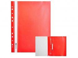 Швидкозшивач пластиковий з перфорацією А4 31510-01 червоний ТМECONOMIX