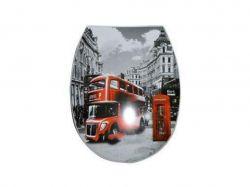 Сидіння для унітазу пластик з рисун. Лондон автобус білий 372 ТМANEMO