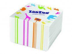 Серветки столові одношарові білі 24x23 см 100 шт. ТМ ZooZoo