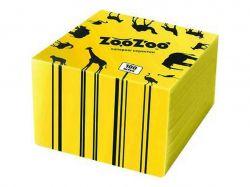 Серветки столові одношарові жовті 24x23 см 100 шт. ТМ ZooZoo