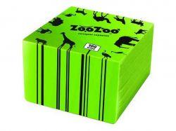 Серветки столові одношарові зелені 24x23 см 100 шт. ТМ ZooZoo