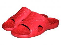 Капці пляжні дитячі (6 пар) Губка-Боб (30-35р.) червоні SV-013 ТМCROSS