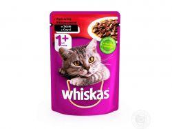 Пауч для д/котів з яловичиною в соусі 100г ТМWHISKAS