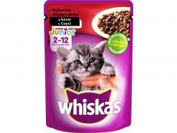 Пауч для котиків Junior з яловичиною в соусі 100г ТМWHISKAS