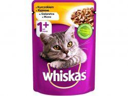 Пауч для д/котів з куркою в желе 100г ТМWHISKAS