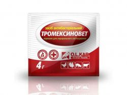 Протимікробні засоби Тромексиновет (порошок) 4г ТМO.L.KAR