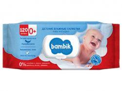 Серветки вологі дитячі з вівсяним молочком, 120 шт. з кл-ом ТМBambik