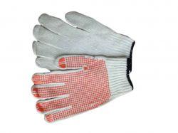 Перчатки робочі білі з ПВХ крапкою 10 клас ТМКИТАЙ