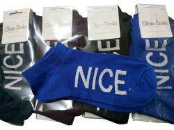 Шкарпетки короткі жіночі NICE р.36-40 (12пар/уп) асорті ТМКЛЕВЕР