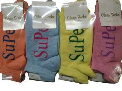 Шкарпетки короткі жіночі SuPeR р.36-40 (12пар/уп) асорті ТМКЛЕВЕР