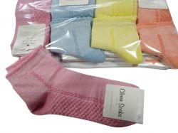 Шкарпетки короткі жіночі Бджолині соти р.36-40 (12пар/уп) асорті ТМКЛЕВЕР