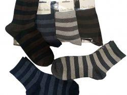 Шкарпетки жіночі Смугасті р.36-40 (12пар/уп) асорті ТМКЛЕВЕР