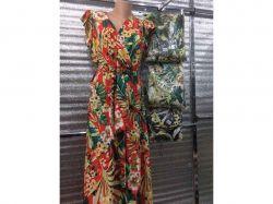 Сукня арт. 8915 / пальми і квіти-червоне- S-M ТМКитай