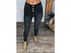 Штани джинсові чорні, на ґудзиках р.32 ТМMercan