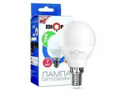 Лампа світлодіодна G45, E14 7 Ватт BT-566 ТМBIOM