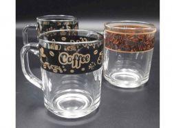 Чашка скляна Green tea 200мл Кава коричнева 07с1335 ТМОСЗ