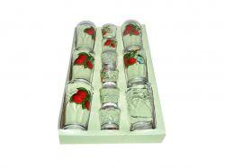 Набір склянок 12пр. вис (6*200мл6*50мл) Вишня 05с1256 ТМОСЗ