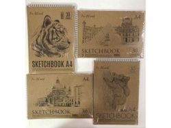Блокнот для замальовок Скетчбук А4 30арк ТМТЕТРАДА