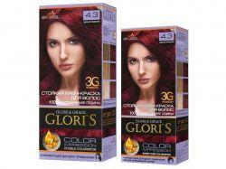 Крем-фарба д/волосся (1го застосування) 4.3 Дика вишня ТМGloris