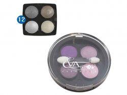 Тіні д/повік 3 в 1 -№12 (чотирьох кольорові) ТМ EVA cosmetics