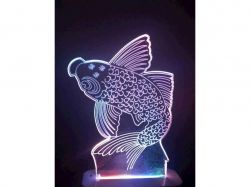Нічник 3D Led Aukes Рыбка ТМAUKES