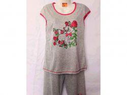 Піжама жіноча з прінтом (футболка з бріджами) р.4XL арт.GUPpr1003-B27ii ТМ SHE