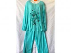 Піжама жіноча на байці батал р.4XL арт.GUPpr1003-B89v мікс ТМ SHELLY