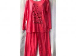Піжама жіноча з довгим рукавом р.L арт.GUPpr1003-B84v мікс ТМ SHELLY