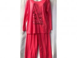 Піжама жіноча з довгим рукавом р.3XL арт.GUPpr1003-B84v мікс ТМ SHELLY