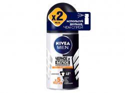 Дезодорант (кульковий) для чол. 50мл Чорне і Біле Невидимий Extra ТМNivea