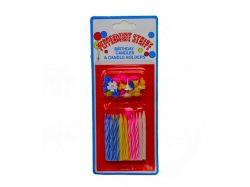 Свічки для торту 12шт12шт. підставки арт. 4887 ТМКИТАЙ