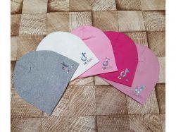 Шапка трикотажна подвійна для дівчинки р.50-52 арт.SB 2052 ТМSHAPKI
