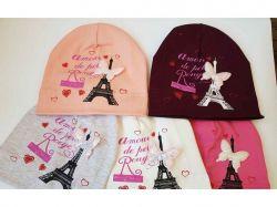 Шапка для дівчинки р.50-52 трикотаж арт.S 00121 ТМSHAPKI