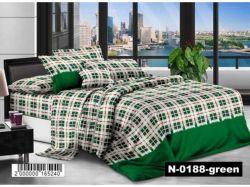 КПБ бязь 2-спальний з наволочкою 70х70 арт.N-0188-green ТМКитай