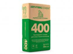 Цемент ПЦ II/Б-Ш-400 25кг (64шт. в пал.) ТМKRYVYIRIGCEMENT
