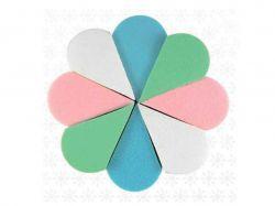 Спонж 8в1 квітка різнокольоровий (для тон.крема) ТМ SILVER STYLE