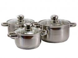Набір посуду з нерж. сталі 3пр. (1.9/2.6/3.6) C ТМZAUBERG