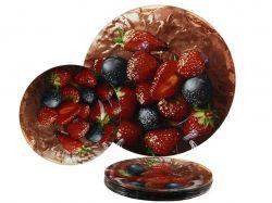 Набір для торта 7пр. скляний Ягоди Х310 ТМLUMINES