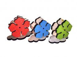 Серветниця деревяна Квіти кольорова ТМЧЕРНІВЦІ