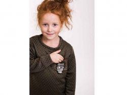 Комплект дитячий- 71340 (Трикотаж, хаки, 110, великий ромб) ТМArjen