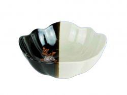 Салатник 1л Тюльпан біло-коричневий з деколью ТМАВАНГАРД - Картинка 1