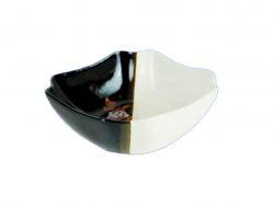 Салатник 1,1л Бутон біло-коричневий з деколью ТМАВАНГАРД - Картинка 1